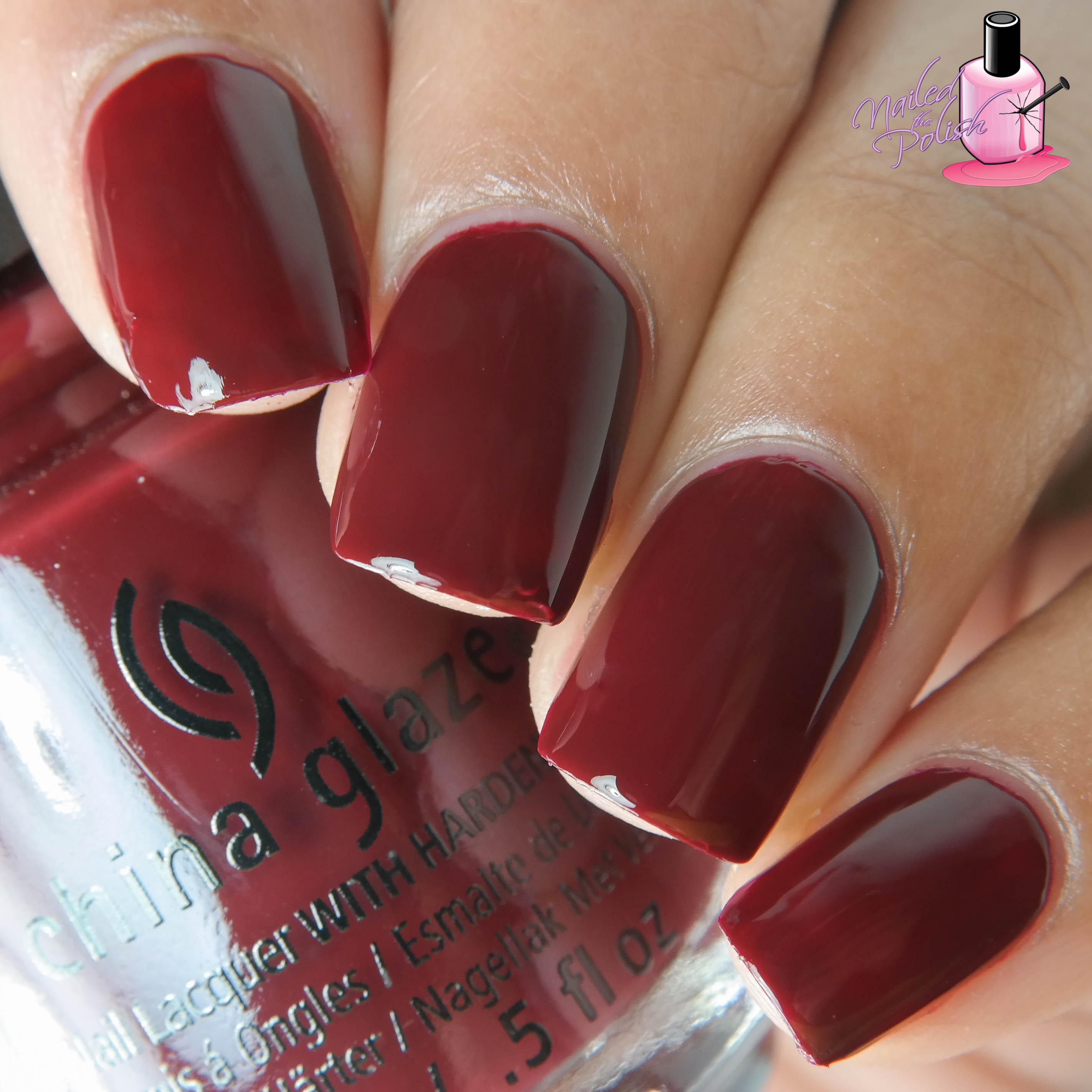 Wine Down For What Is A Vampy Burgundy Creme With Slight Brown Undertones Shown Here Two Coats Plus Top Coat Formula Really Nice